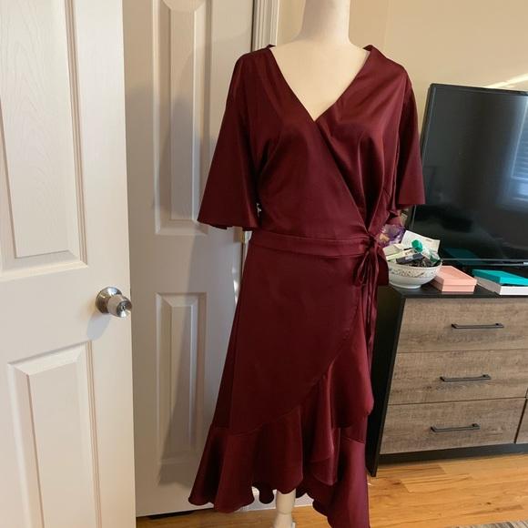 Soprano Dresses & Skirts - Cabernet colored wrap dress